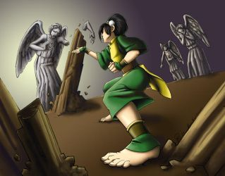 Toph vs. Angels by ScuttlebuttInk