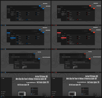 Metric Black Blue and Red Theme Win10 April 2018 by Cleodesktop