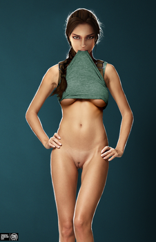 Lara Croft Nude Photoshoot by MadSpike