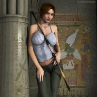 Young Lara in Egypt by JpauCroft