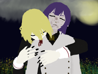 ONS Inktober Day 2 /3 Dracula Mika/Ghoul Lacus by Sephikuji