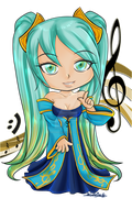 League of Chibis - Sona by UkyoDragoon