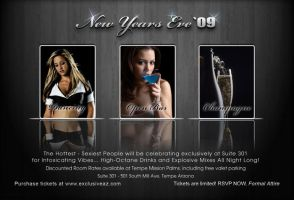 2009 NYE Party Flier by Vikingjack