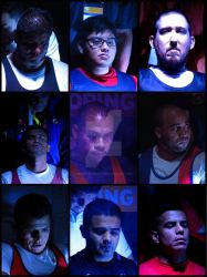 Concentration Faces of Parapowerlifting Athletes by Rubenandres77