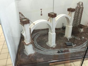 Tunkhannock viaduct construction model by mrbill6ishere