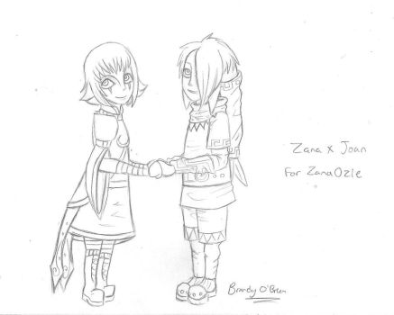 Zana x Joan Sketch by Luvisia