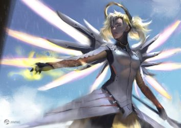 OVERWATCH Mercy by fate-fiction