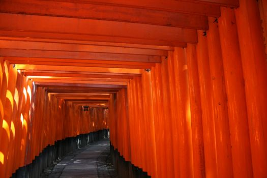 Red Torii Gated by bthangover