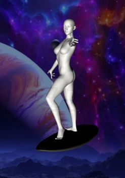 Lady Silver Surfer 3 by borgking001a