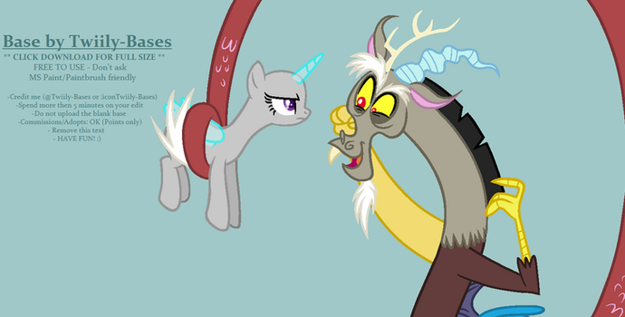 MLP Base 276 - Discord has his own My Little Pony! by ShiiBases