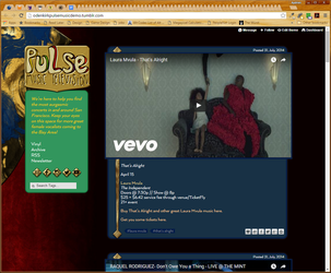 tumblr theme for pulse music by Aurhia