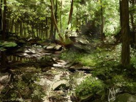 Forest practice 4. Speedpainting by eayna