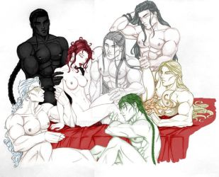 Anyae's Merry and her Kings by DanyTower