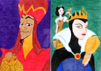 Pyramid of disney vices: pride and envy by Wladlena