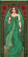 Mucha Poison Ivy by laurencskinner