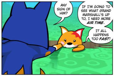 Rocket Fox 18 panel 1: Firework Foiled by StacyKing