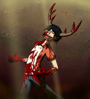Wendigo!Gary doing what he does best! by The-Dork-Side