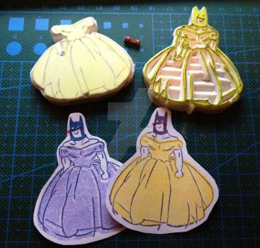Princess Batman rubber stamp XD by XluciferXX