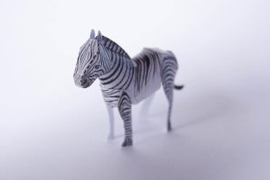 Tiny Paper Zoo - Zebra by kamibox