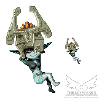 Pixel Midna 2 by theskywaker