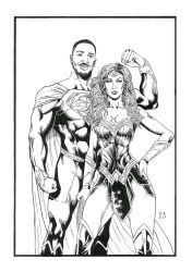 Superman Val Zod and Wonder Woman Nubia by Daniel-Alexandre