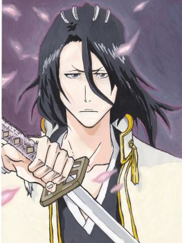 Badass in Pink-Kuchiki Byakuya by master-cartoonist
