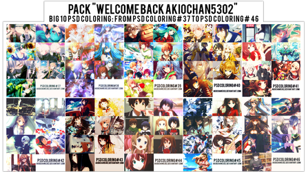 Pack PSD WELCOME BACK AKIOCHAN by akiochan5302