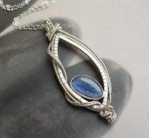 Queen of Rain - Kyanite Sterling Silver Wire Wrapp by Kreagora