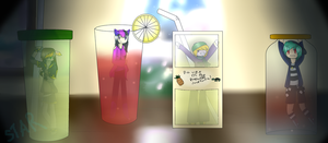Moonlit Drinks -Contest Entry- by reaIi-tea
