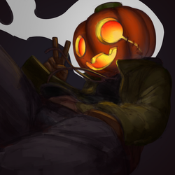 Pumpkinsona thing by Luckeux