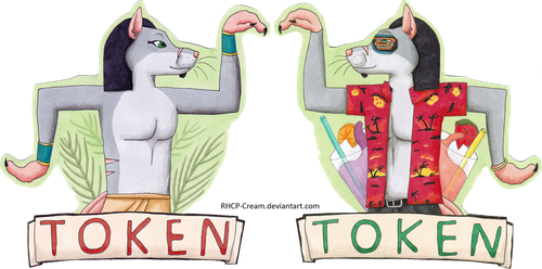 Token Badge - EF 23 by RHCP-Cream