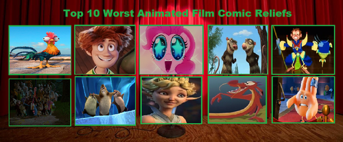 My Top 10 Worst Animated Film Comic Reliefs by yodajax10