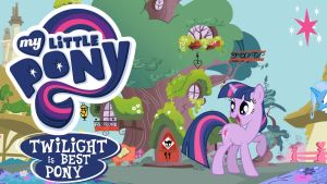 Wallpaper twilight sparkle is best pony by Barrfind
