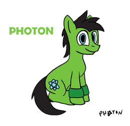 Photon the Earth Pony- Reference Sheet by AtomicNeon