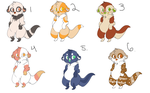 Otter Point Adoptables by 36fireflame