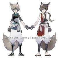 [OPEN] Wolf Twin Adopts by Meicker