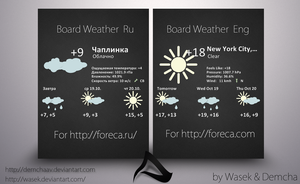 Board Weather Rus and Eng by DemchaAV