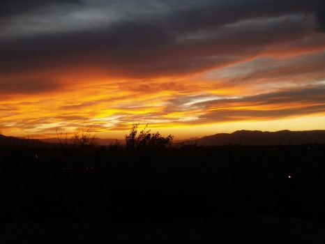 Sunset Over the Valley by beccaecka