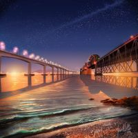 Benicia Bridges by chateaugrief
