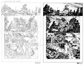 MARVEL Sample Page 2 - Pencils and Inks by ZUCCO-ART