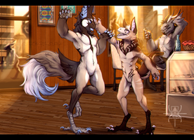 CM: Morning at the Coffee Shop by MutantParasiteX
