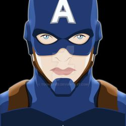 Captain America Portrait by Tooniefied