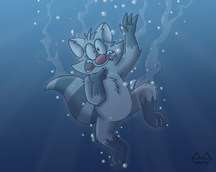 Can't Swim by RonRaccoon