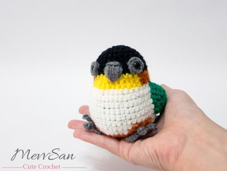 Amigurumi Mira the Caique 1 by MevvSan