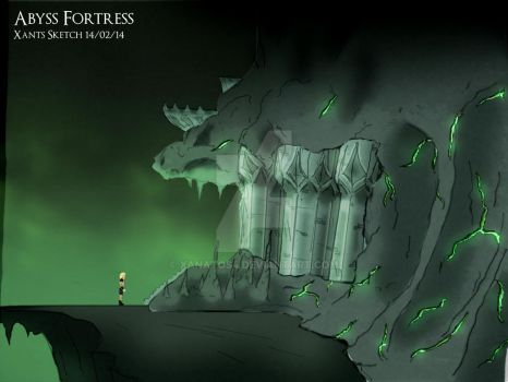 Abyss Fortress Side Concept 1 by Xanatos4