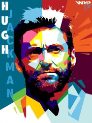Hugh Jackman in WPAP by fauzan94