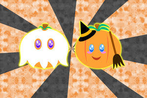 Halloween Pumpkins Wallpaper by MikariStar