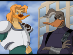 Style Reboot - Mighty Ducks - Nosedive and Duke by SabraeTrash