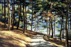 Track in a pine forest by AmsterdamArtGallery