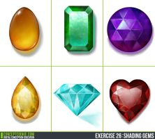 Gem Shading - Daily Practice by Olooriel
